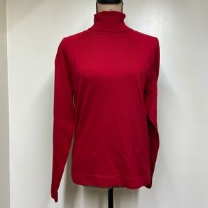 Talbots Size Large Turtle Neck Sweater in Red